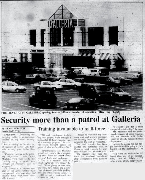 Security more than a patrol at Galleria
