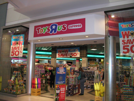 Toys'R'Us Express in the former Sam Goody store, 2014