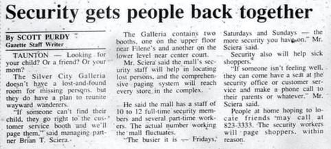 Security gets people back together