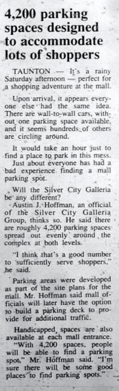 4,200 parking spaces designed to accommodate lots of shoppers