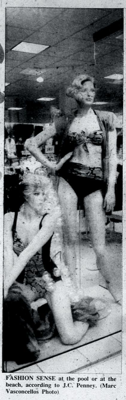 JCPenney summer swimwear display, 1992