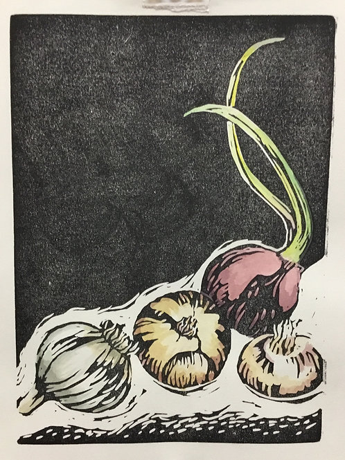"""Farmer's Market Onions and Garlic"""
