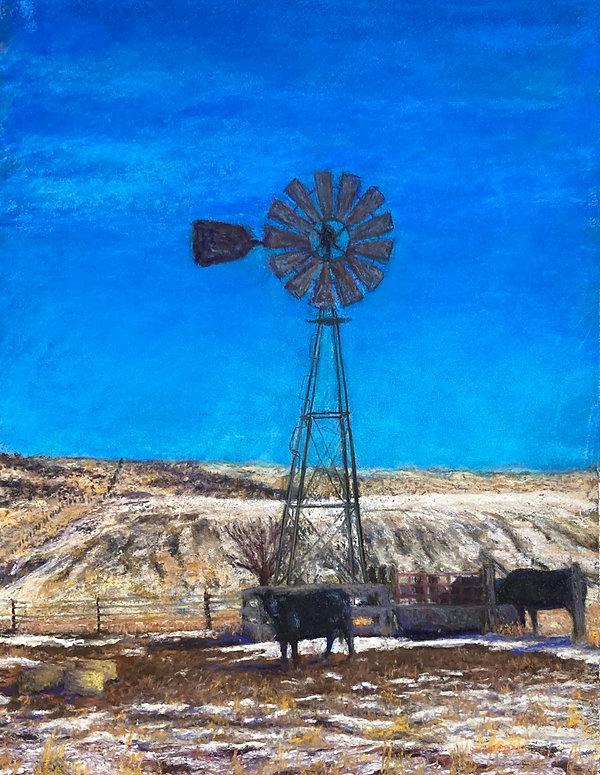 Montana Windmill and tank  14x18.jpg