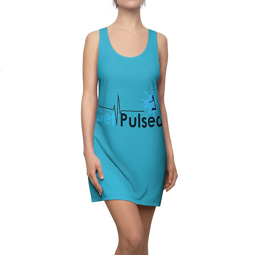 Women's Cut & Sew Racerback Dress (Blue)