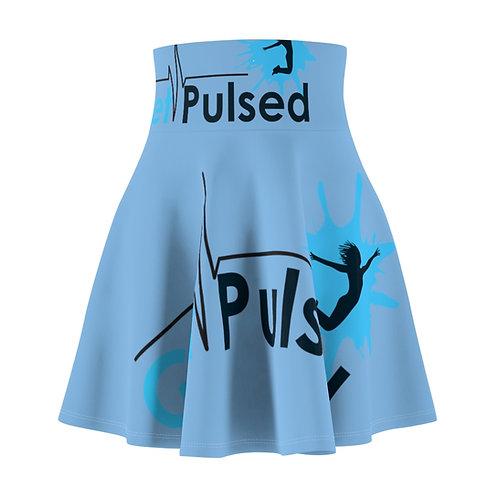 Women's Skater Skirt (Blue)