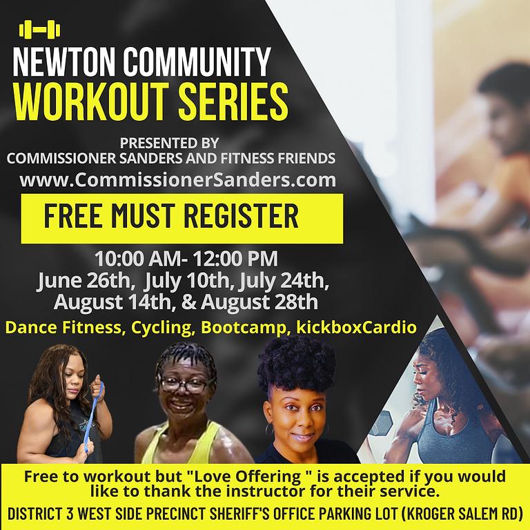 Newton Community Workout Series (Kickbox Cardio with Commissioner Sanders)