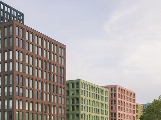 LAN progetta un'isola urbana colorata a Strasburgo