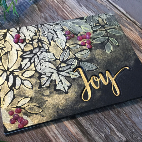 Stencilled Watercolour featuring Simon Says Stamp's Autumn Splendor