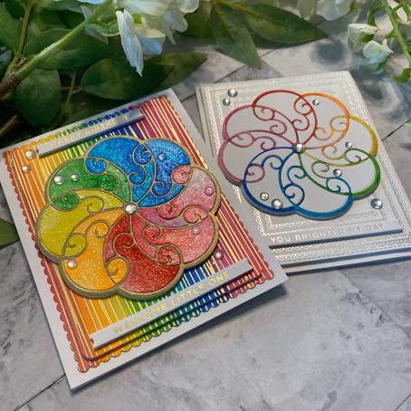 Spellbinders' Sweet Rondure ... Rainbow Style!