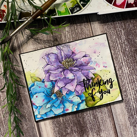 Clematis Watercolour with Alex Syberia Design