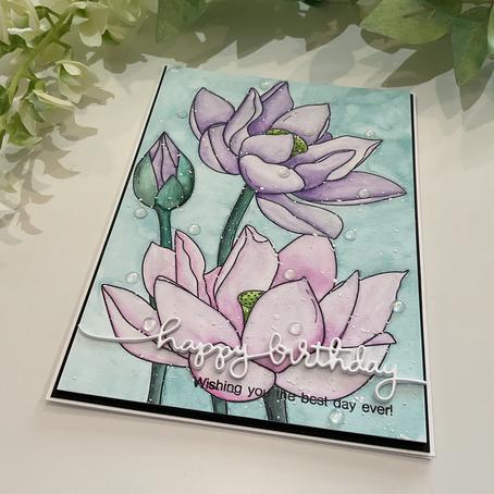 Watercolouring with Alex Syberia Design's Lotus White
