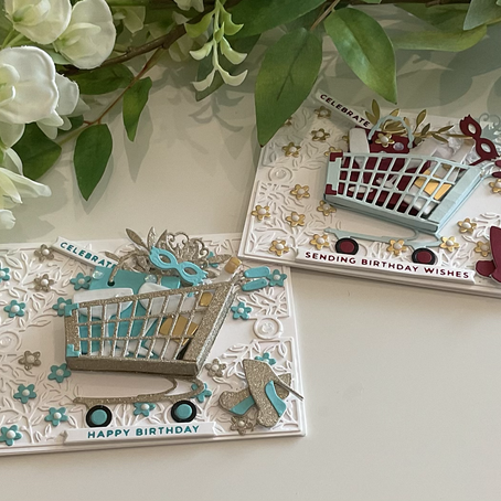 Time to Celebrate a Birthday with Spellbinders' Shopping Carts