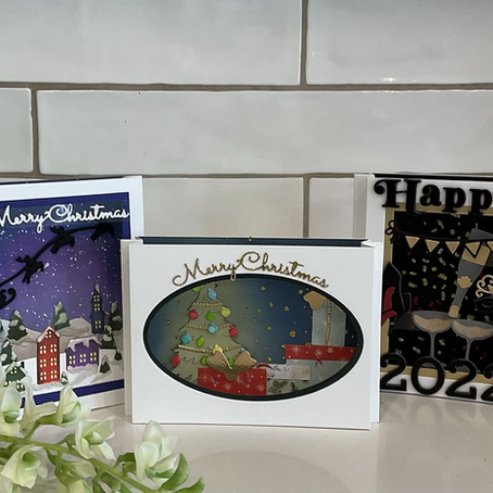 Christmas & New Year's Shadow Boxes featuring Spellbinders' Die Sets