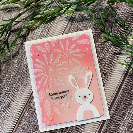Some Bunny Loves You with Simon Says Stamp's Daisy Bouquet