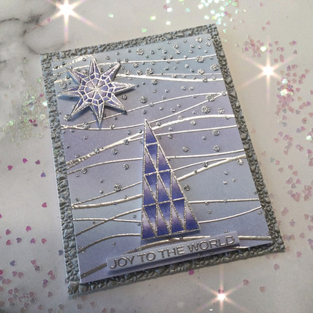 Simon Says Stamp's Abstract Holiday ... a prismatic wintry wonderland!