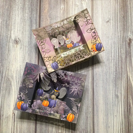 EEEK!!! Spooky Shadow Boxes featuring Simon Says Stamp's Happy Haunting