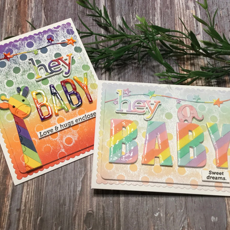 """Hey Baby!!!"" featuring Paper Piecing with Simon Says Stamp's Picture Book Critters"