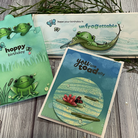 Interactive Cards featuring Simon Says Stamp's TOADALLY UNFROGETTABLE