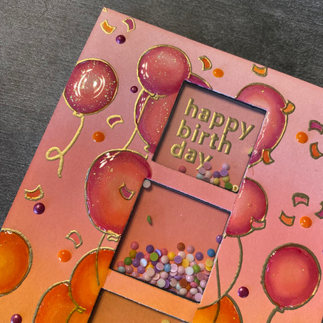 SHAKE IT UP Card 2 ... with Simon Says Stamp February Card Kit