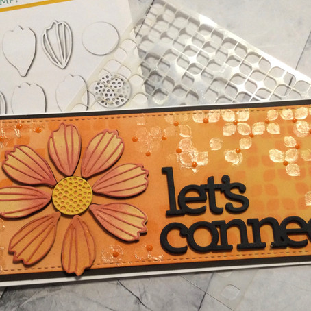 Let's Connect .... an 'all die cut' card