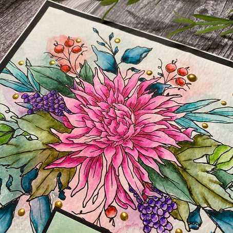 Grateful Heart Watercolour with Graciellie Design