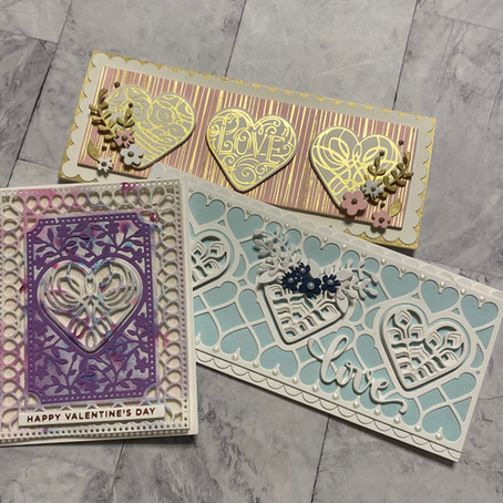 Love Is In the Air with all die cut cards featuring Spellbinders