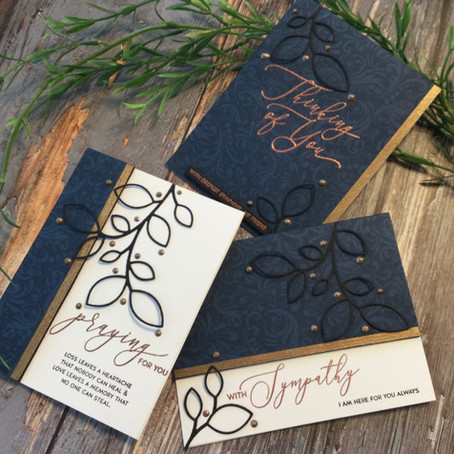 Tone on Tone Stamping Technique in Masculine Style Sympathy Cards