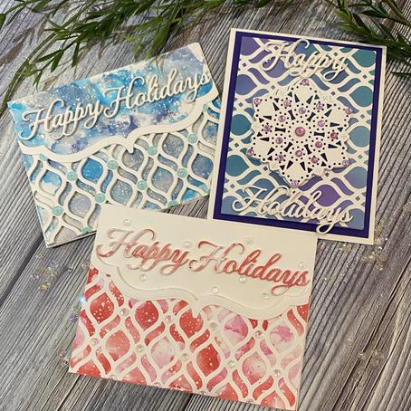 Spellbinders' Mosaic Bracket Card Builder….three ways!