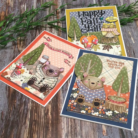 Patterned Paper Landscapes featuring Simon Says Stamp's Happy Fall Y'all!