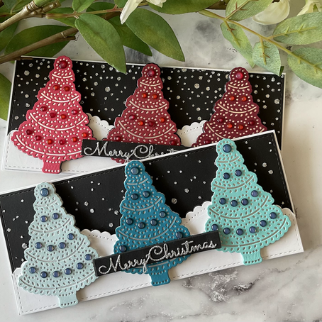Spellbinders' STITCHmas Trees … with no stitching!