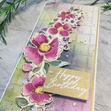 Loose Watercolouring with Pinkfresh Studio's Floral Notes