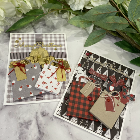 It's Time for Christmas Shopping featuring Spellbinders' Shopping Bags