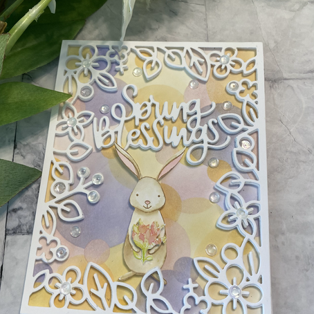 An Easter BOKEH featuring Woodland Whimsy by Simon Says Stamp
