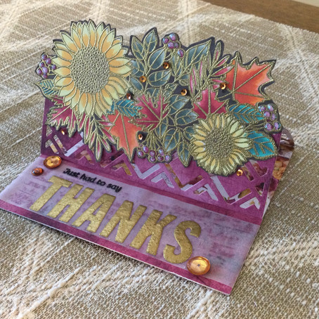 Die Cut Easel Thank You Card
