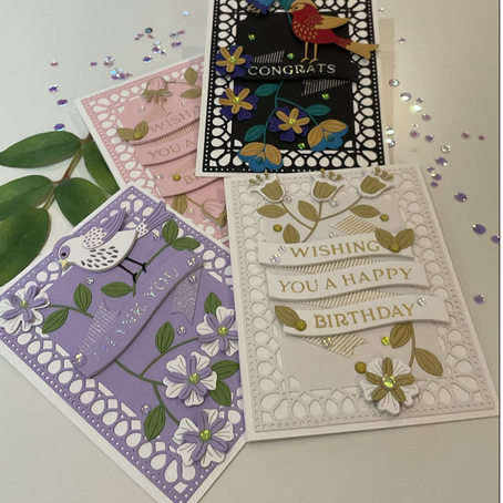 Hot Foiling + Die Cutting = AMAZING featuring Spellbinders' Glimmering Build A Banner & Just A Tweet