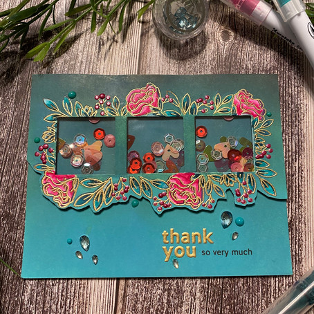 SHAKE IT UP .... card 3 with Simon Says Stamp January Card Kit