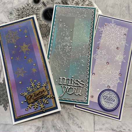 Layered Ink Blending featuring Simon Says Stamp's Snowflake Season