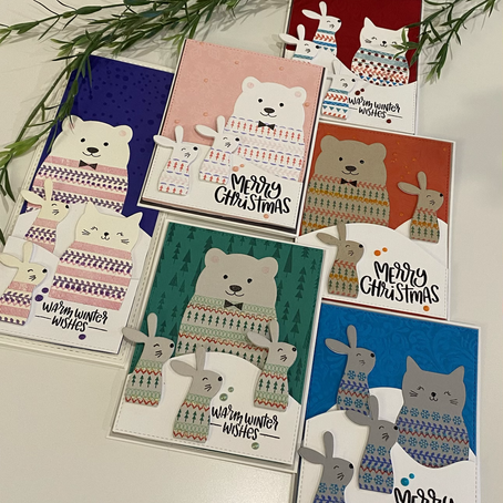Don't Like to Colour … No Problem! featuring Simon Says Stamp's Critter Sweaters