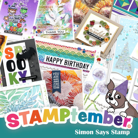 Happy Birthday Shaped Card with Simon Says Stamp