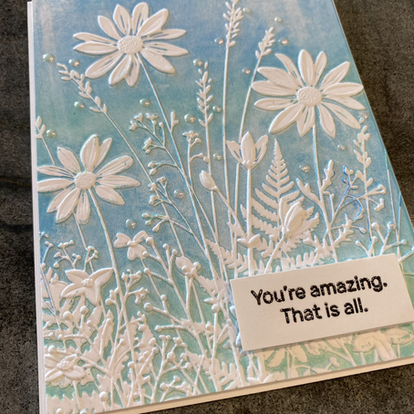 Embossing Folders and Acrylic Paint