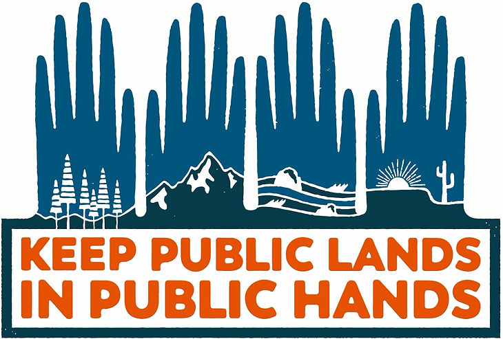 Public lands in public hands sticker