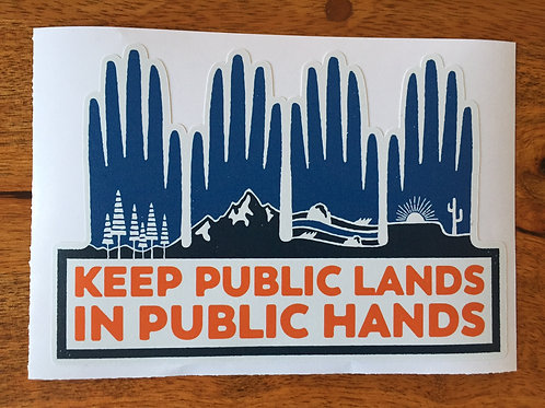 Keep Public Lands in Public Hands Bumper Sticker