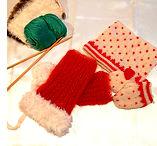 子供用手編み帽子と手袋