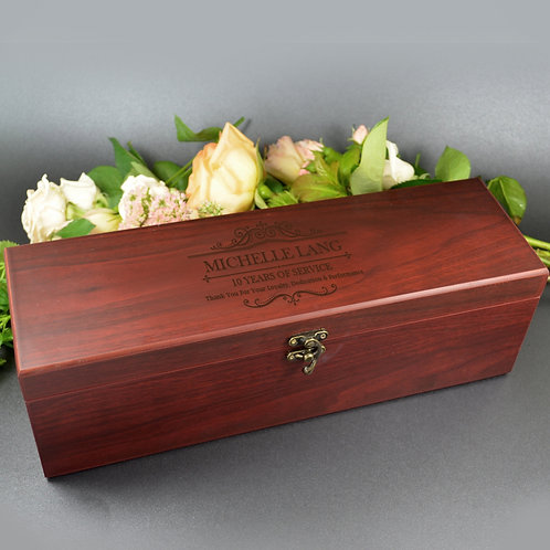 Deluxe Jarrah Wine Box personally Laser Engraved
