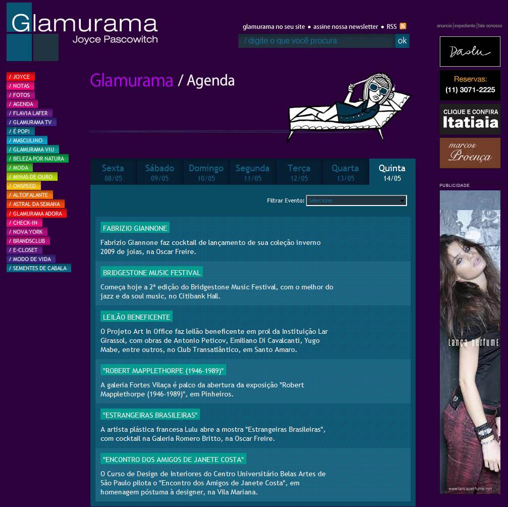 glamurama web