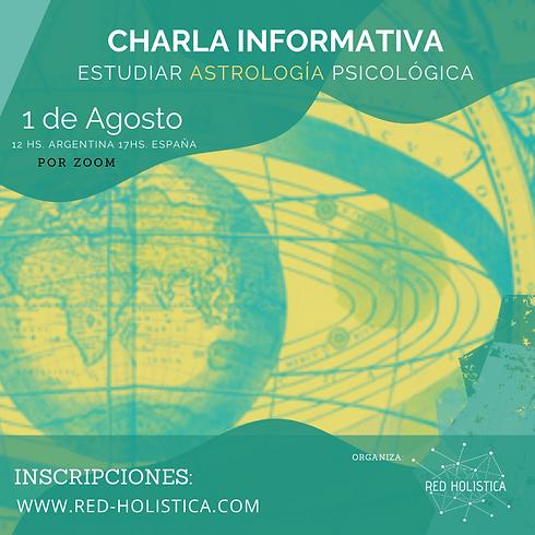 Charla Informativa Formación Astrología Psicológica