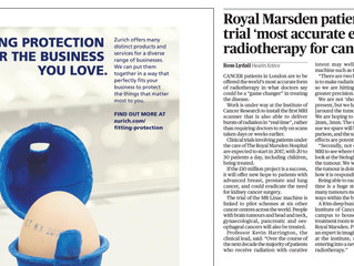 Ansell and Bailey's Royal Marsden MR LINAC in the News
