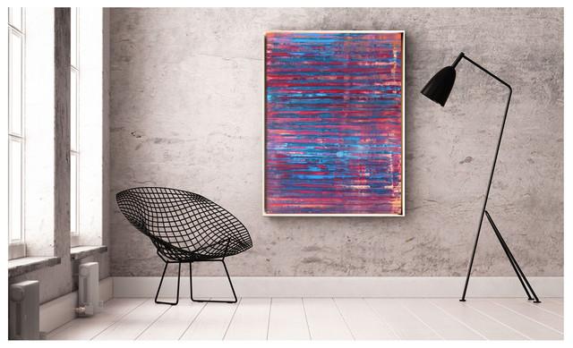 Tableau de la série KAGEMUSHA/PRISME. Format 130 x 97 cm