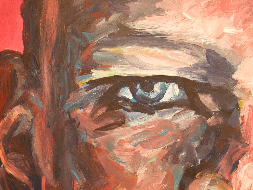 L'iris bleu. La pythie - close-up. Oeil bleu.