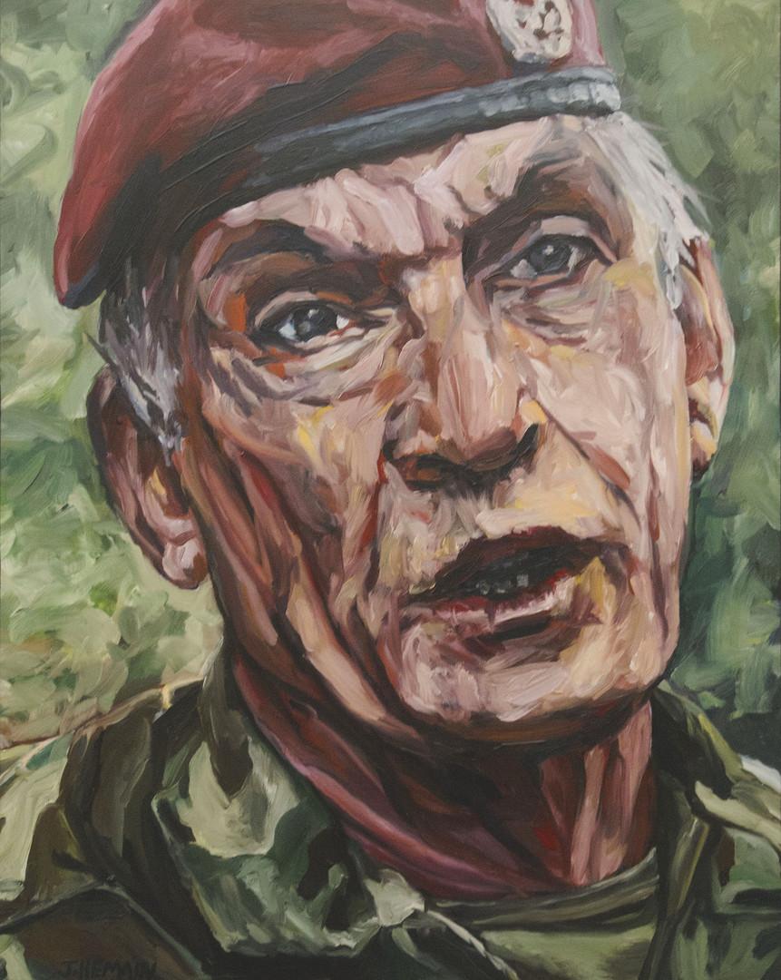 Soldat. Huile sur toile - 92 x 73 cm.